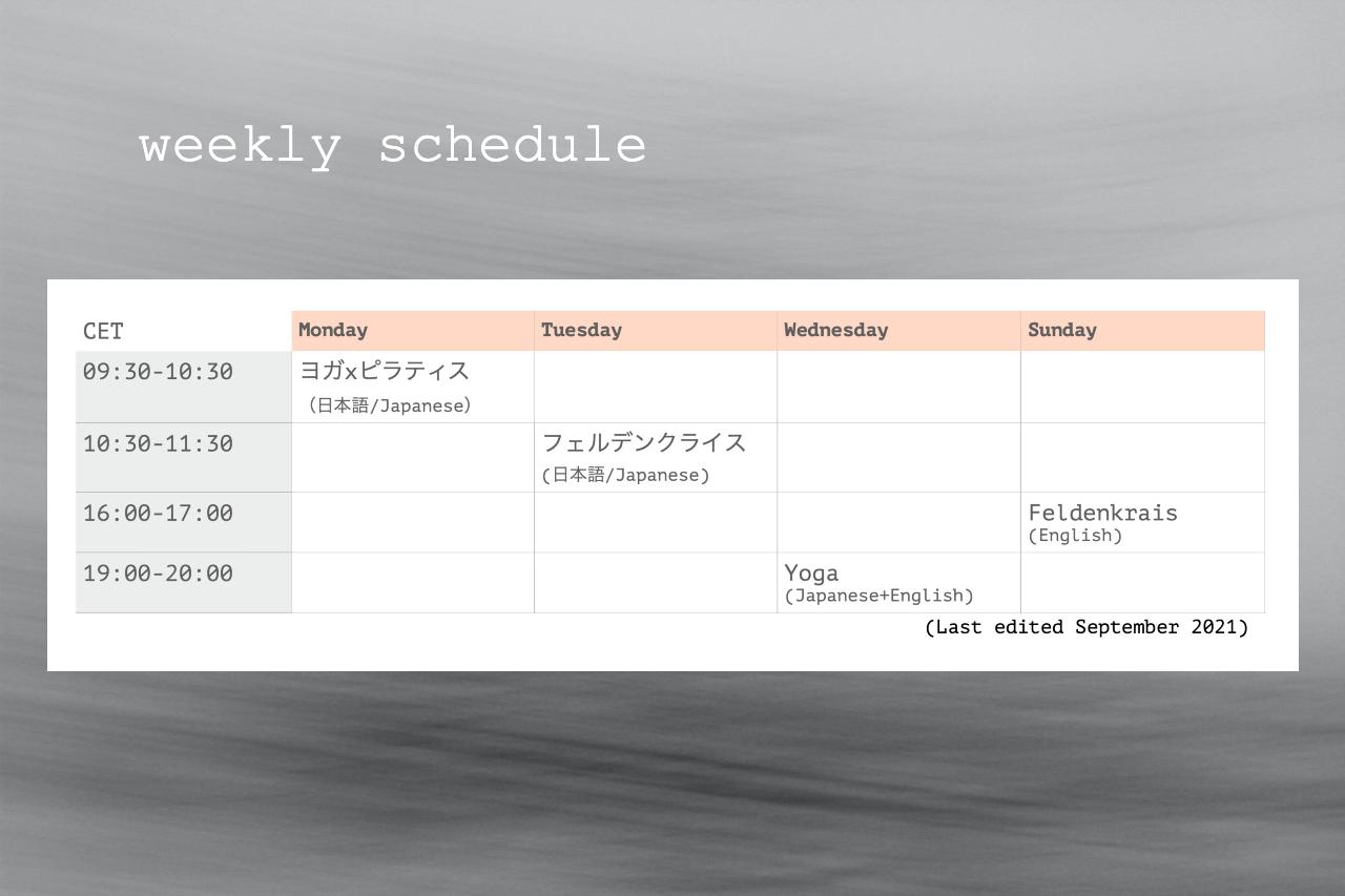 schedule sep 2021